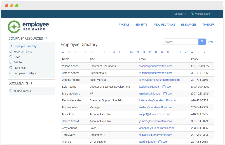Employee navigator HR